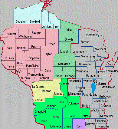 Jurisdictional Map Western District of Wisconsin